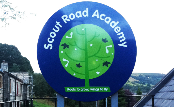 Scout Road Academy Signage